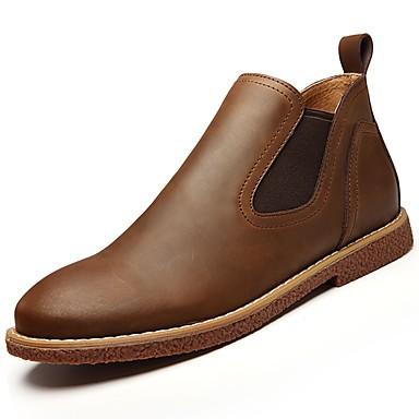Herren Schuhe Gummi Frühling Herbst Komfort Stiefel Für Schwarz Braun