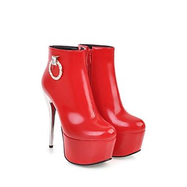 la à 06384154 Botte Chaussures Bottes Automne Bottine Rouge Bottes Boucle Mode rond Hiver Demi Femme Bout Noir Similicuir Blanc YwRqpxqg