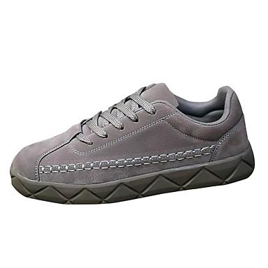 Męskie Buty PU Świńska skóra Wiosna Jesień Comfort Tenisówki Szurowane na Casual Black Gray Brown