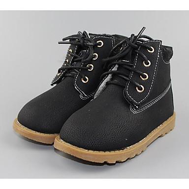Jungen Schuhe Künstliche Mikrofaser Polyurethan Winter Herbst Komfort Springerstiefel Stiefel für Normal Schwarz Gelb Rosa