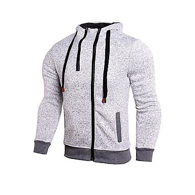 Męskie Běžecká bunda Długi rękaw Zdatny do noszenia Topy na Kolarstwo / Rower Rayon Poliester Black Grey S M L XL XXL