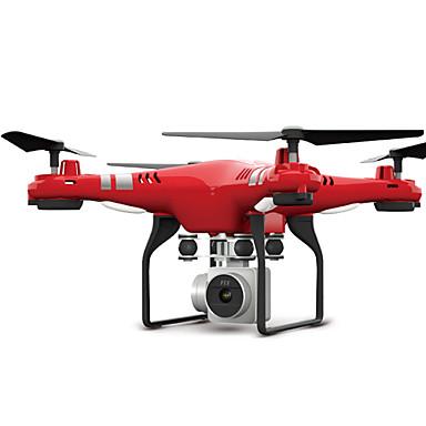 povoljno Dronovi i RC-RC Dron FLYRC X52 RTF 4 Kanala 6 OS 2.4G S HD kamerom 0.3MP 640P*480P RC quadcopter LED svjetla / Povratak S Jednom Tipkom / Auto-Polijetanja RC Quadcopter / Daljinski Upravljač / Kamera / Lebdjeti