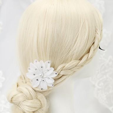 szyfonowa imitacja perły rhinestone szpilka do włosów 1 szt. elegancki styl