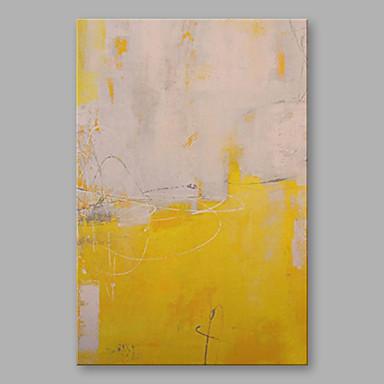 Hang-Malowane obraz olejny Ręcznie malowane - Abstrakcja Nowoczesny Brezentowy / Rozciągnięte płótno