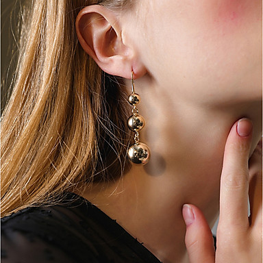 Damskie Kolczyki wiszące Kolczyki koła Metaliczny Klasyczny Vintage Na co dzień Modny Stop Geometric Shape Biżuteria Gold Bar Klubowa