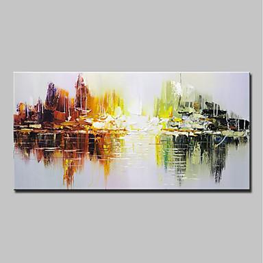 Handgemalte Abstrakt Horizontal, Einfach Modern Segeltuch Hang-Ölgemälde Haus Dekoration Ein Panel