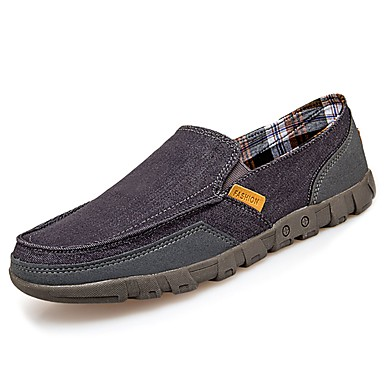 Męskie Buty PU Wiosna Jesień Comfort Mokasyny i pantofle na Casual Dark Blue Gray Khaki