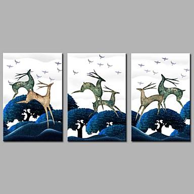 Humor Pejzaże Rustykalny, Trzy panele Brezentowy Poziomy panoramiczny Wydrukować wall Decor Dekoracja domowa