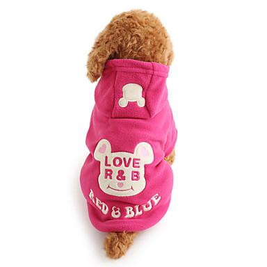 Hund Kapuzenshirts Hundekleidung Cartoon Design Schwarz Rose Polar-Fleece Kostüm Für Haustiere Herrn Damen Niedlich warm halten