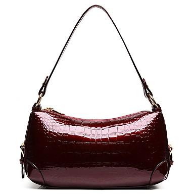 Damskie Torby Patent Leather Torba na ramię Zamek Blushing Pink / Wine / Granatowy