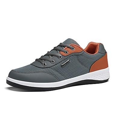 Hombre Zapatos Cuero / PU Primavera / Verano Confort Zapatillas de Atletismo Running Blanco / Negro / Azul Oscuro urdGSxN8