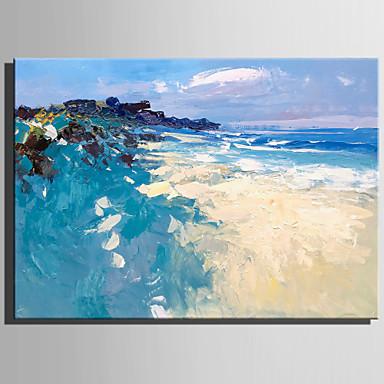 Hang-Malowane obraz olejny Ręcznie malowane - Krajobraz Rustykalny Nowoczesny Brezentowy