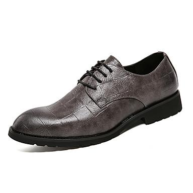 בגדי ריקוד גברים נעליים פורמליות דמוי עור אביב / קיץ נעלי אוקספורד שחור / אפור / חתונה / מסיבה וערב