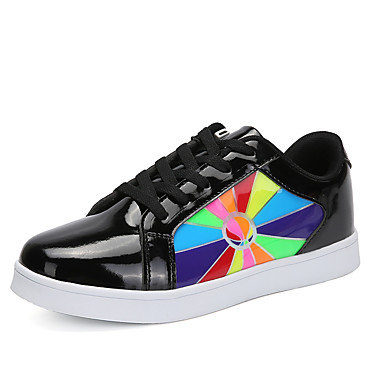 Dla chłopców Buty Materiał do wyboru Syntetyczny Jesień Na każdy sezon Świecące buty Zabawne Comfort Tenisówki Wzór zwierzęcy LED Haczyk