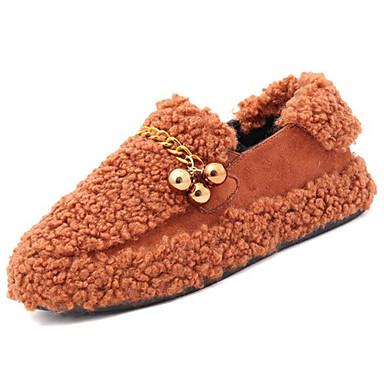 Damskie Obuwie Nubuk Zima Comfort Mokasyny i pantofle Okrągły Toe na Na wolnym powietrzu Black Brown Green