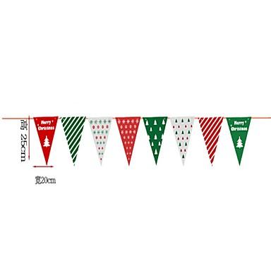 Dekoracje bożonarodzeniowe Flagi świąteczne Artykuły na przyjęcie bożonarodzeniowe Zabawki Kostiumy Św. Mikołaja Elk Bałwan Flaga Święto