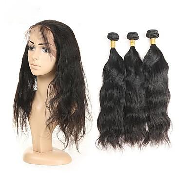 Włosy peruwiańskie Włosy remy Naturalne fale Ludzkie włosy wyplata 3szt Człowieka splotów włosów