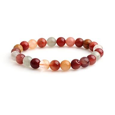 abordables Bracelet-Bracelet à Perles Femme Cristal Cristal simple Coloré Bracelet Bijoux Rouge Forme de Cercle pour Cadeau Ecole