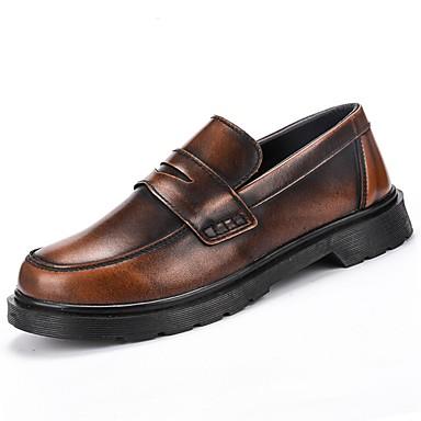 Męskie Buty Guma Zima Jesień Comfort Mokasyny i pantofle na Na wolnym powietrzu Black Brown Czerwony