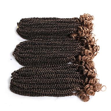 Pleść warkocze Curly / Skręt Senegalese Warkocze szydełkowe z pętelką Włosie synetyczne 20 korzeni / opakowanie, 3 szt. Włosy Warkocze Ombre Krótkie / Długość średnia Nowości / Afrykańskie warkocze