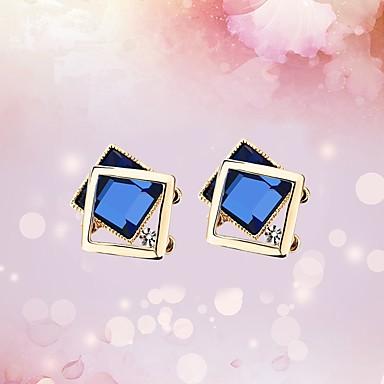Damskie Kolczyki na sztyft Kolczyki koła Kryształ Rhinestone Klasyczny Hipoalergiczny Modny Słodkie Koreański Kryształ Stop Geometric