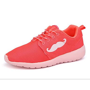 Damen Schuhe Atmungsaktive Mesh Frühling Herbst Komfort Sneakers Für Normal Schwarz Rosa Hellblau