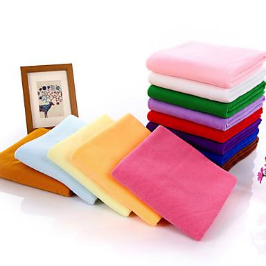 Świeży styl Ręcznik kąpielowy, Jendolity kolor Najwyższa jakość Poly / Cotton Ręcznik