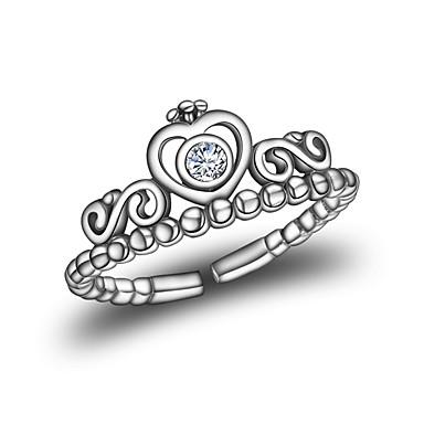 Damskie Srebrny Crown Shape mankiet Pierścień - Crown Shape Modny Koreański Silver Pierścień Na Inny Codzienny