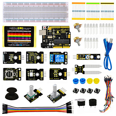 keyestudio szenzor készlet - k4 arduino indító készlethez kompatibilis arduino uno r3 tábla adl345joystickrelayrgb led19projects