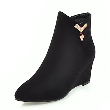 des chaussures bottes mode / bottine de similicuir des bottes bottines d'hiver orteil bottines bottes / bottines / mi - mollet des bottes noires c3cae0
