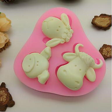 Narzędzia do pieczenia Silicon Rubber / żel krzemionkowy Nieprzylepny / Narzędzie do pieczenia / 3D Ciasteczka / Czekoladowy / Do naczynia do gotowania Formy Ciasta 1szt