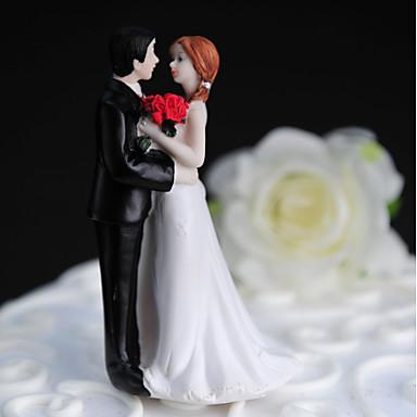 Figurki na tort Znajomi Ślub Pleksiglas Ślub Impreza z Pudełko na prezent