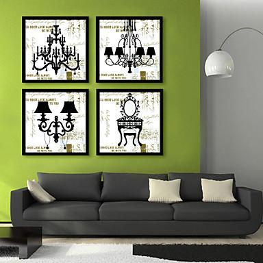 Martwa natura Postarzane Ilustracja Wall Art,PVC (polichlorek winylu) Materiał z ramą For Dekoracja domowa rama Art Living Room Sypialnia