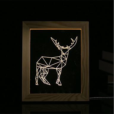 1 zestaw 3d nastrój lampki nocne oświetlenie led lampy usb sypialnia lampka na zdjęcia prezenty owiec