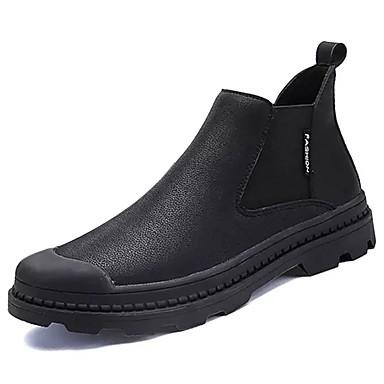 Męskie Komfortowe buty PU Zima Botki Czarny / Khaki / Fashion Boots