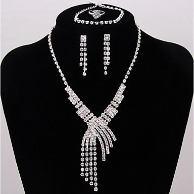 Damskie Biżuteria Ustaw - Posrebrzane Klasyczny, Moda Zawierać Zestawy biżuterii ślubnej Srebrny Na Ślub Impreza