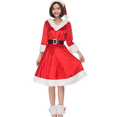 Kostiumy Św. Mikołaja Święty Mikołaj Kostiumy Cosplay Świąteczna sukienka Damskie Boże Narodzenie Halloween Karnawał Oktoberfest Nowy Rok