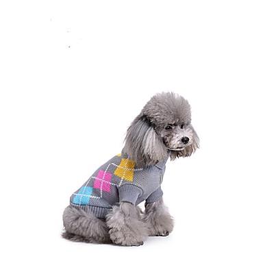 Katze Hund Pullover Hundekleidung Stilvoll Polkadot Grau Kostüm Für Haustiere
