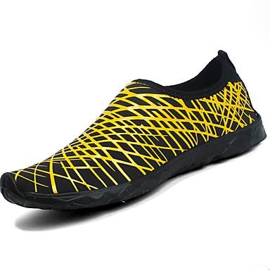 Damskie Obuwie PU Wiosna Jesień Comfort Buty do lekkiej atletyki Sporty wodne Na Casual Black Yellow Fuchsia Niebieski