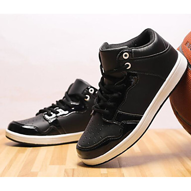 Jungen Schuhe Kunstleder Herbst / Winter Komfort Sneakers für Weiß / Schwarz / Rot