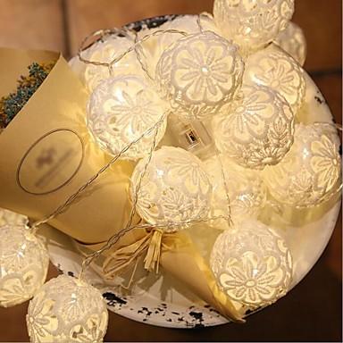 1.5 Leuchtgirlanden 10 LEDs Warmes Weiß / Mehrfarbig Einfache Batterie 1pc