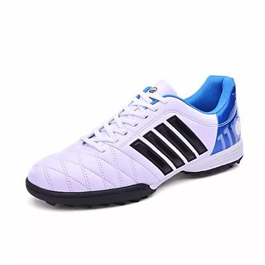 Herren Schuhe Gummi Frühling Herbst Komfort Sportschuhe Fußball Schnürsenkel Für Weiß Schwarz Königsblau