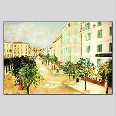 Ręcznie malowane Krajobraz Poziomy panoramiczny, Nowoczesny Brezentowy Hang-Malowane obraz olejny Dekoracja domowa Jeden panel