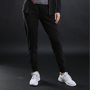 Damskie Běžecké kalhoty - Czarny, Szary Sport Jendolity kolor Spodnie Joga, Fitness, Siłownia Odzież sportowa