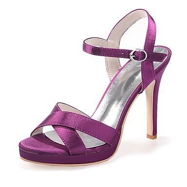 Eté ouvert Femme Rouge Ivoire Boucle Bleu Talon Sandales Aiguille 06421716 Printemps Escarpin Bout Satin Basique Chaussures gB7cqBvwt