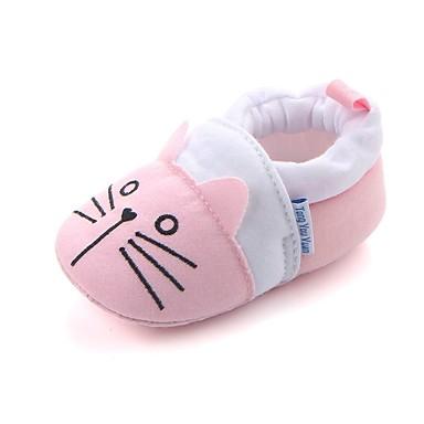 baratos Sapatos de Criança-Para Meninas Tecido Rasos Crianças (0-9m) Conforto / Primeiros Passos / Sapatos de Berço Elástico Rosa claro Primavera / Outono