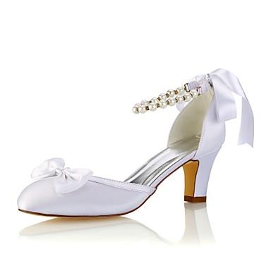 06438396 Pourpre Satin mariage Bottier de Bout Eté foncé rond Talon Chaussures Cristal Elastique Basique Printemps Chaussures Femme Escarpin Txp5gZzq