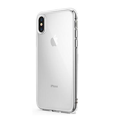 Pouzdro Uyumluluk Apple iPhone X iPhone 8 iPhone 8 Plus iPhone 6 iPhone 6 Plus Ultra İnce Şeffaf Arka Kapak Tek Renk Yumuşak TPU için