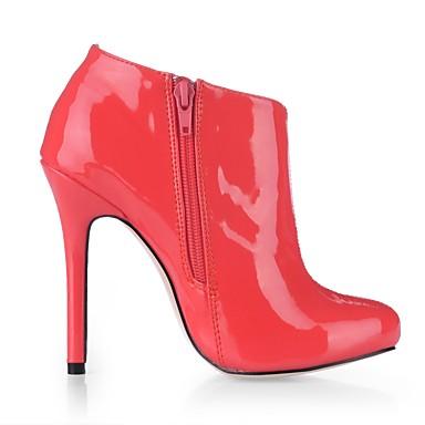 Bout Chaussures Aiguille Mariage Rose Mode rond Demi Talon Botte 06452666 Verni Bottes Femme Bottine la à Bottes Automne Cuir Printemps 7qwwUdPR