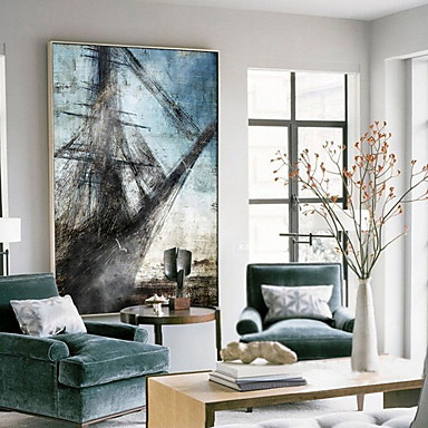 Abstract Oil Painting Wall Art,Alloy Material With Frame For Home ...